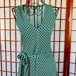 H&M Green Patterned Sleeveless Halter Midi NWOT